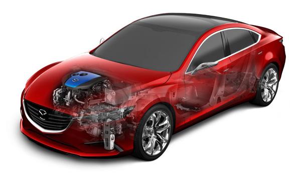 Mazda TAKERI mit i-ELOOP System mit Kondensator-Speichertechnik