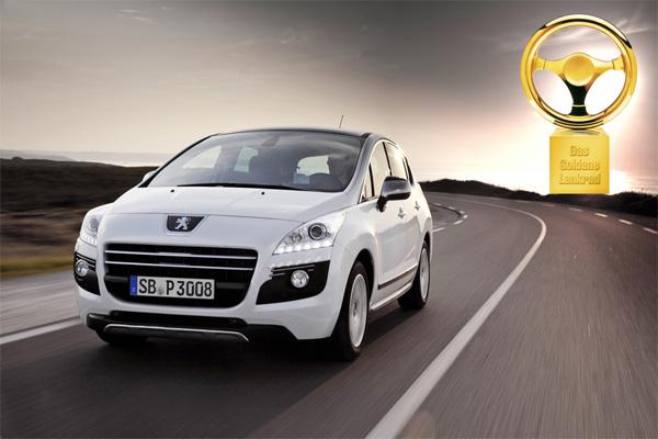 Peugeot 3008 HYbrid4 gewinnt Goldenes Lenkrad 2011