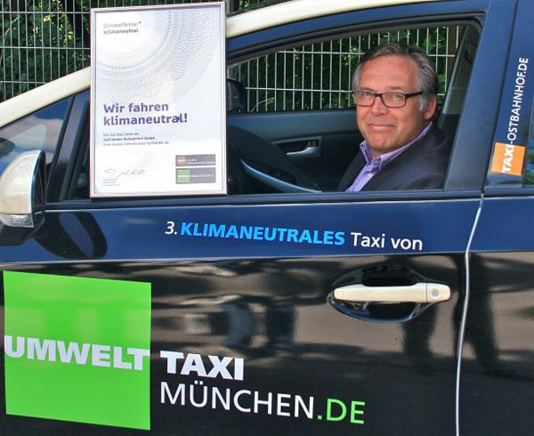 TAXI Center Ostbahnhof (TCO)  gewinnt mit Hybridtaxis den Münchner Umweltpreis