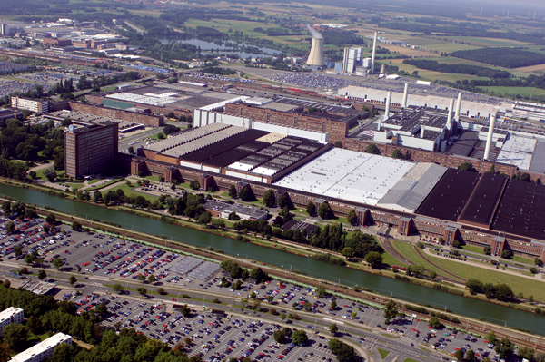 Volkswagenwerk Wolfsburg (Luftaufnahme)