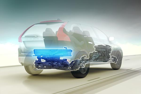 Volvo XC60 Plug-in Hybrid Concept - Batterieeinheit