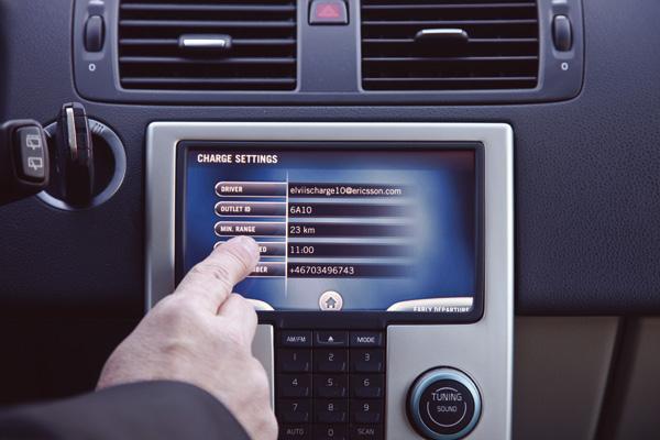 Touchscreen im Volvo C30 Electric