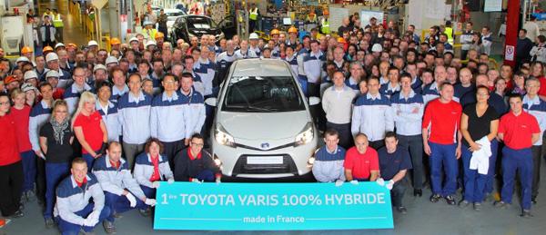 Produktion des Toyota Yaris Hybrid gestartet