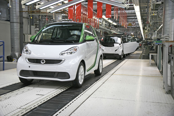 smart fortwo electric drive Produktionsstart