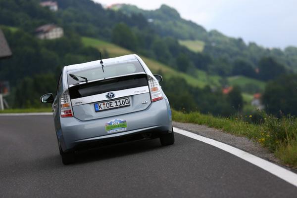 Prius PHV bei der Silvretta e-Auto-Rallye