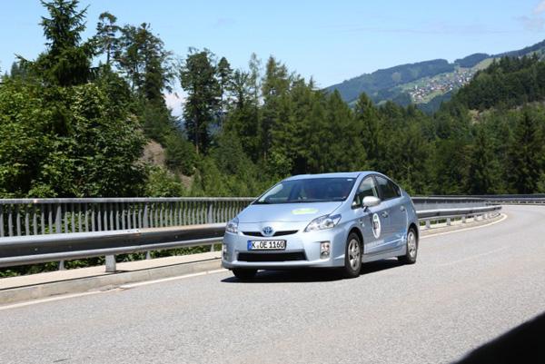 Prius Plug-In bei der Silvretta e-Auto Rallye