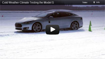 Video: Testfahrten des Tesla Model S bei extrem kaltem Wetter