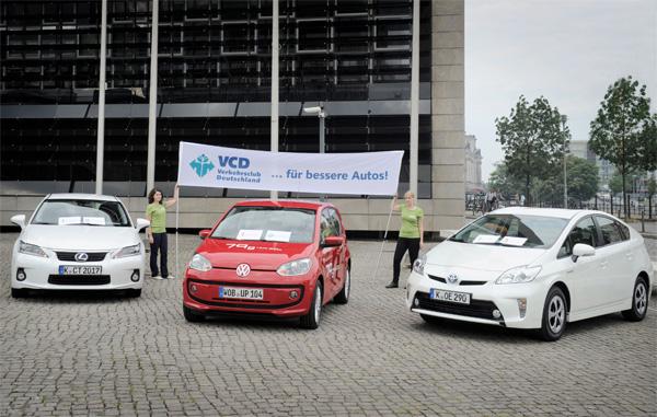 VCD-Umweltliste: Platz 1 bis 3 der Top Ten 2012/2013
