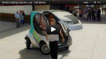 Video: Hiriko Elektroauto zum Zusammenfahren