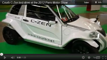 Testfahrt mit dem E-Auto Courb C-Zen auf dem Autosalon in Paris
