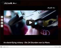 Audi TV: Der elektrifizierte Sieg bei Rennen von Le Mans (Anzeige)