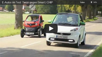 CHIP E-Auto Test: Renault Twizy vs. Smart fortwo ed