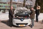 Das Förderprogramm macht E-Autos wie den ZOE leistbar. Landeshauptmann Dörfler, Raffler, Battistutti (v.l.)