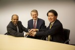 Raj Nair, Group Vice President, Global Product Development, Ford Motor Company, Prof. Thomas Weber, Member of the Board of Management of Daimler AG, Group Research & Mercedes-Benz Cars Development and Mitsuhiko Yamashita, Member of the Board of Directors and Executive Vice President of Nissan Motor Co., Ltd., supervising Research and Development.