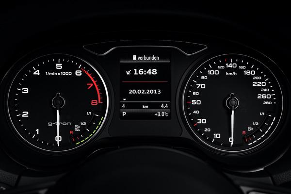 Audi A3 Sportback g-tron - Instrumente