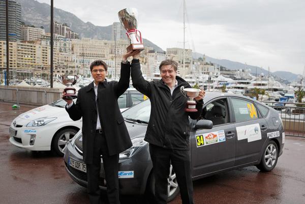 Gesamtsieger: Arthur Prusak und Jean Baptiste Loty im Prius