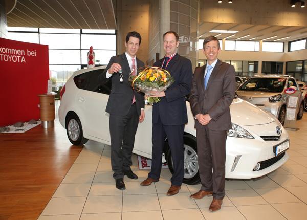 Übergabe des Toyota Prius+