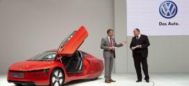 Volkswagen XL1 als Deutschlandpremiere auf der Hannover Messe
