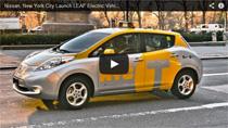 Sechs Nissan LEAF kommen in New York City als Taxi zum Einsatz