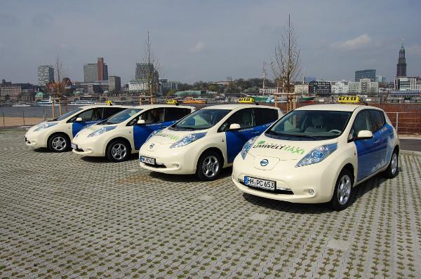 Nissan Leaf Taxiflotte