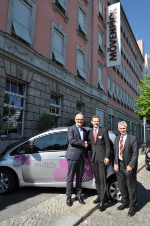 Citroen Multicity Carsharing Berlin und Mövenpick Hotel Berlin kooperieren