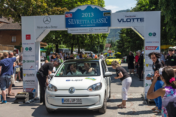 VW e-up! bei der E-Auto Rallye 2013