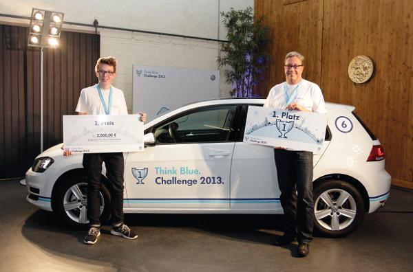 Sieger der deutschen Volkswagen Think Blue. Challenge 2013