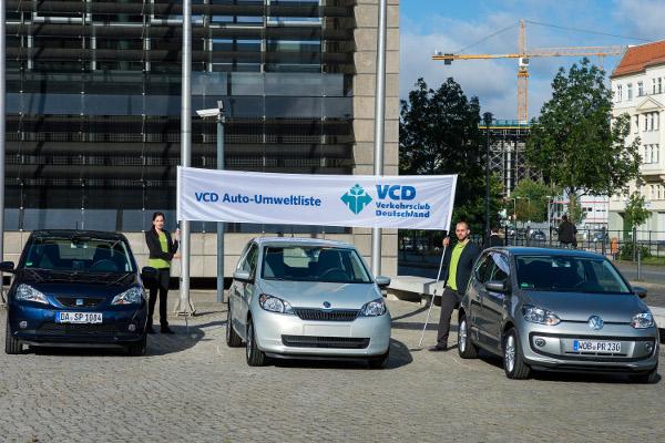 Siegerautos der VCD Auto-Umweltliste 2013/2014