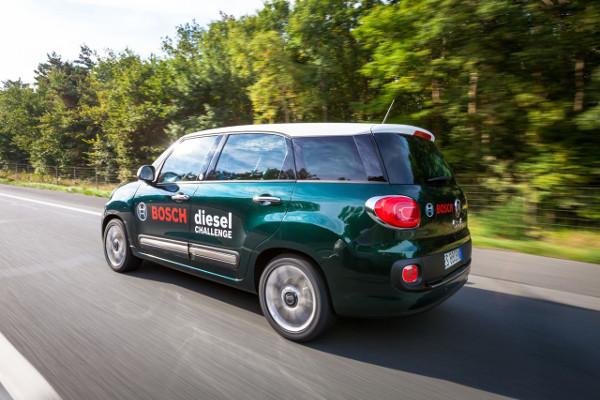 Fiat 500L Living bei der Bosch Diesel Challenge