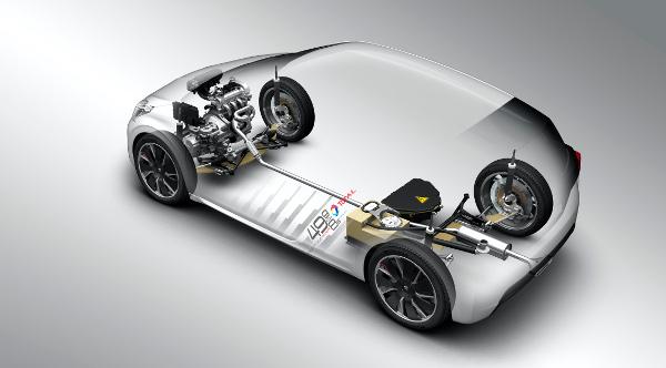 Peugeot 208 HYbrid FE - Technik