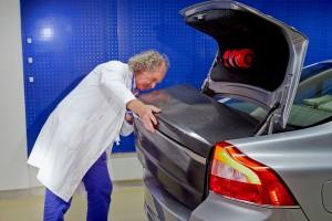 Volvo Kofferraumklappe als Superbatterie