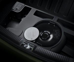 Kia Picanto LPG - Autogastank in der Reserveradmulde