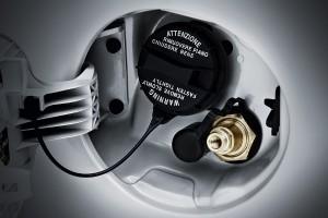 Kia Picanto LPG - Blick unter den Tankdeckel