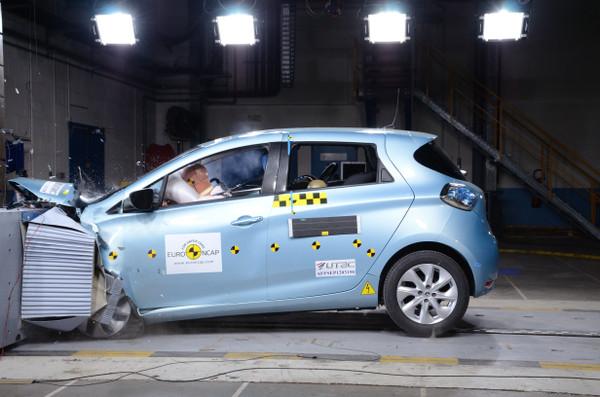 Renault ZOE beim Crashtest