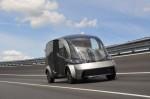 Elektrischer Lieferwagen des Deliver-Projekts
