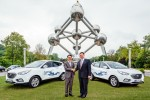 Übergabe der Hyundai ix35 Fuel Cell Autos
