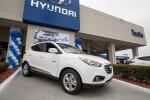 Hyundai Tucson Fuell Cell beim Händler in Tustin