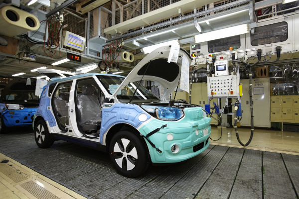 Kia Soul EV in der Produktion