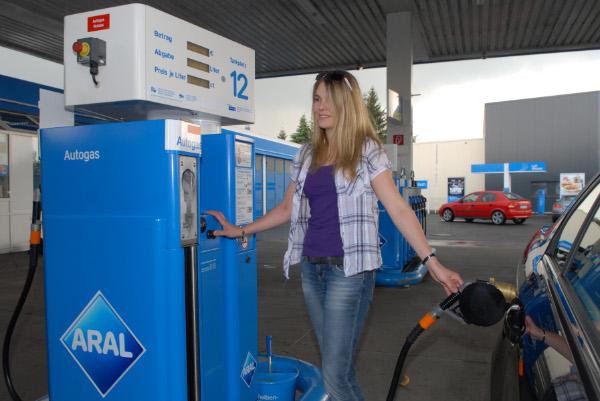 Autogas an einer Aral Tankstelle