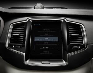 Volvo XC90 Twin Engine - Fahrmodi-Anzeige