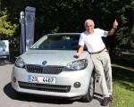 Gerhard Plattner mit dem Skoda Citigo G-TEC
