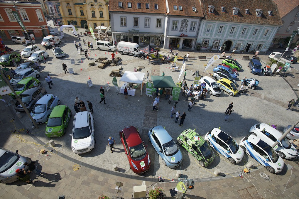 Elektroautos der e-Via in Hartberg
