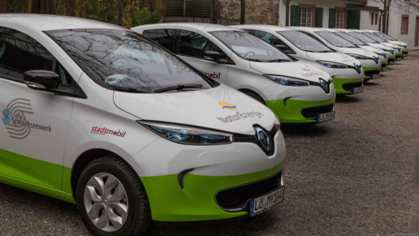 40 Renault ZOE für my-e-car Carsharing