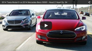Vergleich: 2014 Tesla Model S oder 2014 Mercedes-Benz S550