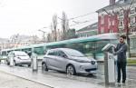 Renault ZOE beim Aufladen