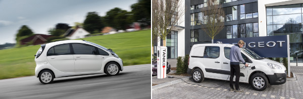 Citroen C-Zero und Peugeot Partner Electric