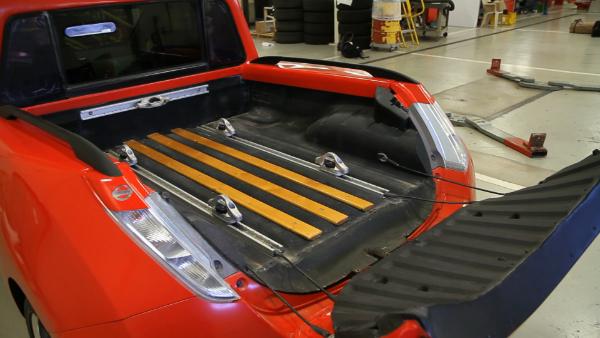 Ladefläche des Nissan Leaf Pick-Up