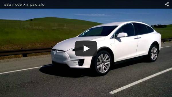 Tesla model x testfahrt auf der strasse for Tesla motors palo alto