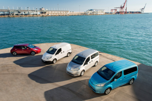 Nissan Leaf und e-NV200 Elektrofahrzeuge