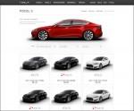 Tesla Motors Webseite mit Model S Gebrauchtwagen